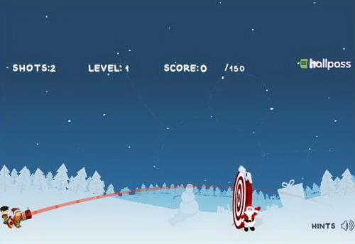 Флеш-игра - Рождественская пушка