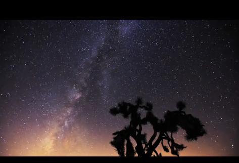 Млечный путь и метеоритный дождь