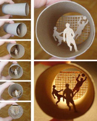 Креатив из основы под туалетную бумагу
