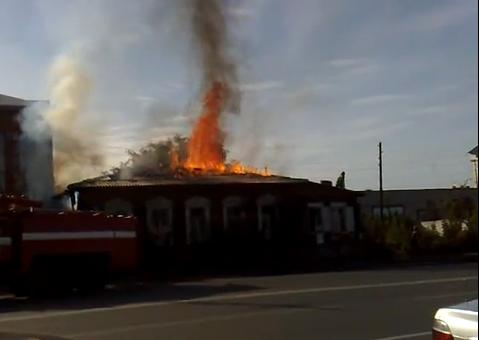 Пожар в Челябинске по ул.Свобода 18.09.10