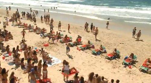 Пляжный флешмоб
