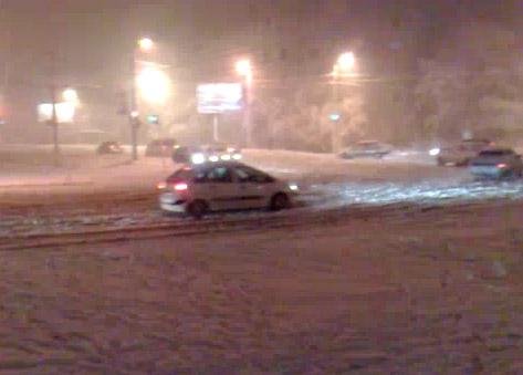 Первый снегопад в Челябинске 06.11.10
