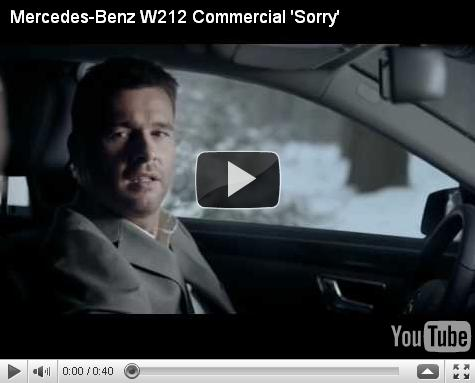 Mercedes-Benz W212 Commercial 'Sorry'