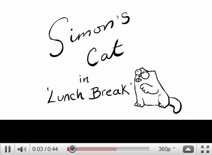Simon's Cat in 'Lunch Break'