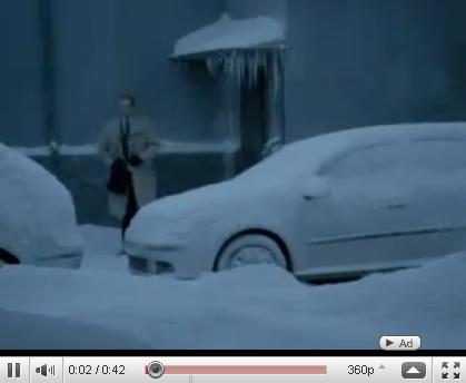 Зимний прикол с машиной