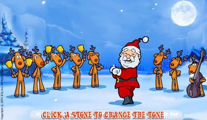 Поющий Санта Клаус