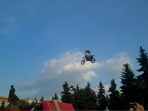 Видео Мотофристайл Adrenaline FMX Rush-шоу :: 27.07.11 Челябинск