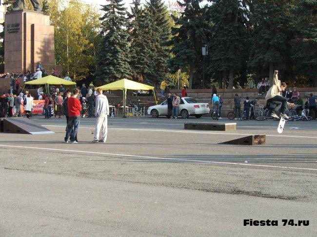 Открытие скейт-парка в Челябинске 09.10.2011 - Фото